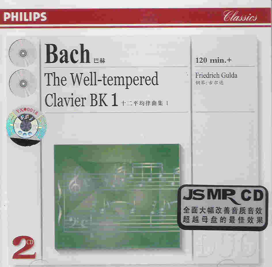 JS Bach The Well Tempered Clavier BK 1