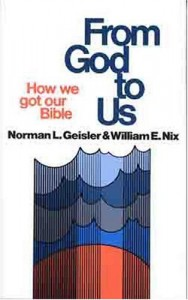 From God To Us : How We Got Our Bible